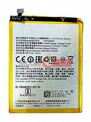 Mobile Battery For OPPO F3 black