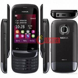 Full Body Housing Panel Faceplate For Nokia C2-02 Black
