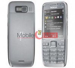 Nokia E52 Original Faceplate Housing (body)(silver)