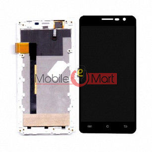 Lcd Display With Touch Screen Digitizer Panel For Intex Cloud Crystal 2.5D