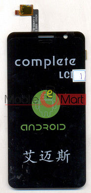 Lcd Display+Touch Screen Digitizer Panel For Videocon A55 hd