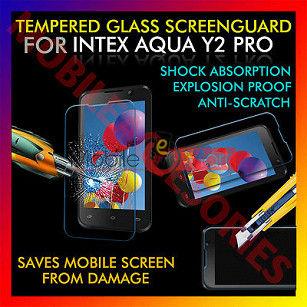 Intex Aqua Y2 Pro Tempered Glass Scratch Gaurd Screen Protector Toughened Protective Film