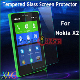Microsoft Nokia X2 Tempered Glass Scratch Gaurd Screen Protector Toughened Protective Film