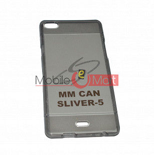 Fancy Mobile Back Cover For Micromax Canvas Silver-5