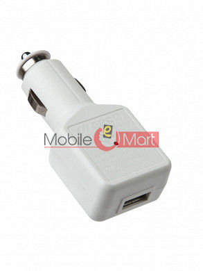 USB Car MOBILE Charger IPHONE 5S / IPOD  MINI  WHITE