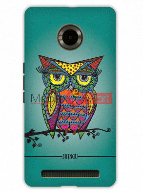 Fancy 3D Colorful Owl Mobile Cover For Micromax Yuphoria