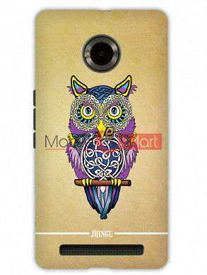 Fancy 3D Designer Owl Mobile Cover For Micromax Yuphoria