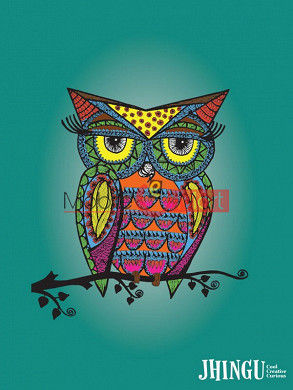 Fancy 3D Colorful Owl Mobile Cover For Apple IPhone 6