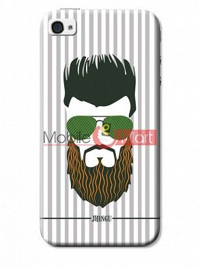 Fancy 3D Hipster Mobile Cover For Apple IPhone 4 & IPhone 4s