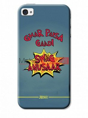 Fancy 3D Swag Anusaar Mobile Cover For Apple IPhone 4 & IPhone 4s