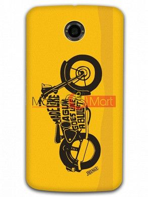Fancy 3D Royal Enfield Mobile Cover For Google Nexus 6
