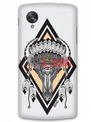 Fancy 3D Buffalo Skull Mobile Cover For Google Nexus 5