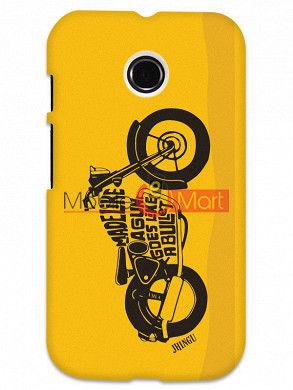Fancy 3D Royal Enfield Mobile Cover For Motorola Moto E