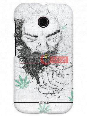 Fancy 3D Chillam Baba Mobile Cover For Motorola Moto E
