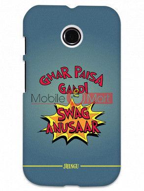 Fancy 3D Swag Anusaar Mobile Cover For Motorola Moto E