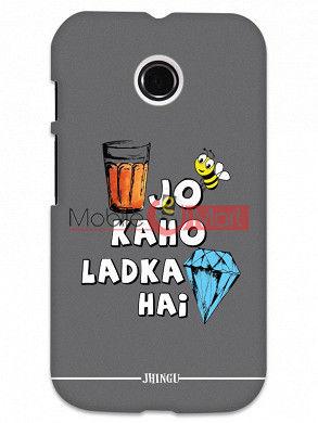 Fancy 3D Ladka Heera Hai Mobile Cover For Motorola Moto E