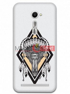 Fancy 3D Buffalo Skull Mobile Cover For Asus Zenphone 2