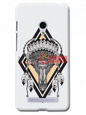 Fancy 3D Buffalo Skull Mobile Cover For Asus Zenphone 6