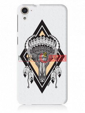 Fancy 3D Buffalo Skull Mobile Cover For HTC Desire 826