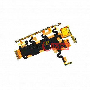 Power On Off Volume Button Key Flex Cable For Xperia Z1 Honami