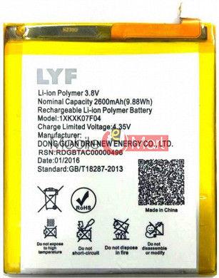 Mobile Battery For Lyf Wind 4s