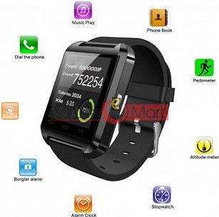 Bingo U8 Smartwatch  (Black Strap)