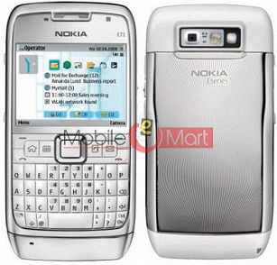 REPLACEMENT FASCIA FACEPLATE PANEL HOUSING WITH KEYPAD FOR NOKIA E71 WHITE