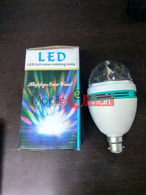 Crystal Ball Led Bulb Party Light Disco Effect Full Color Rotating Bulb