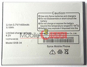 Mobile Battery For  Spice SXB-34