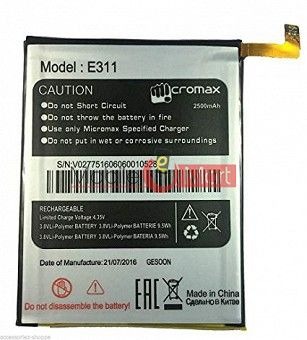 Mobile Battery For Micromax Canvas Nitro 2 E311