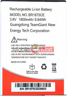 Mobile Battery For Intex Cloud Fame 4G