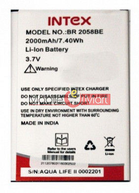 Mobile Battery For Intex Aqua Life 2 II