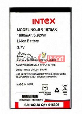 Mobile Battery For Intex Aqua Q1+ Plus