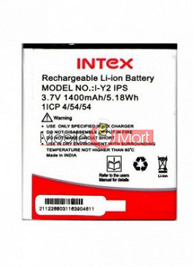 Mobile Battery For Intex Aqua Y2 IPS