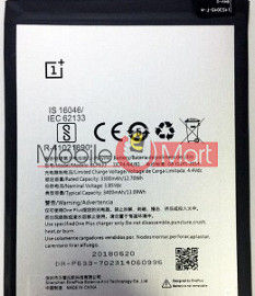 Mobile Battery For OnePlus 3T