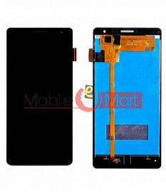 Lcd Display With Touch Screen Digitizer Panel Combo Folder Glass For Panasonic Eluga I (Black)