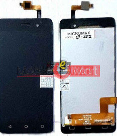 Lcd Display With Touch Screen Digitizer Panel Combo Folder Glass For Micromax Bolt supreme 4 Q352 (Black)