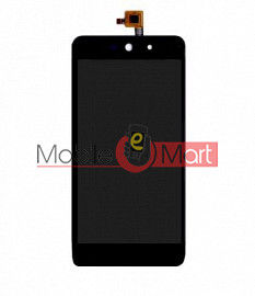 Lcd Display With Touch Screen Digitizer Panel Combo Folder Glass For Micromax Canvas Selfie Lens Q345 (Black)