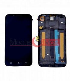 Lcd Display With Touch Screen Digitizer Panel Combo Folder Glass For Panasonic Eluga Icon (Black)