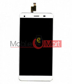 Lcd Display With Touch Screen Digitizer Panel Combo Folder Glass For Lava Iris X9 (Black)