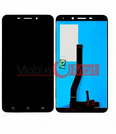 Lcd Display With Touch Screen Digitizer Panel Combo Folder Glass For Asus Zenfone 3 Laser - Black