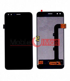 Lcd Display With Touch Screen Digitizer Panel Combo Folder Glass For Lava Z70(Black)