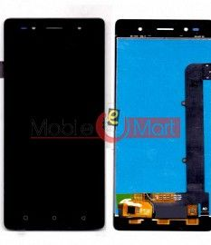 Lcd Display With Touch Screen Digitizer Panel Combo Folder Glass For Lava Z80 (Black)