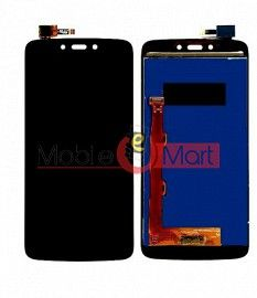 Lcd Display With Touch Screen Digitizer Panel Combo Folder Glass For Motorola Moto C Plus (Black)