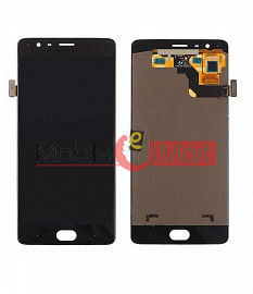 Lcd Display With Touch Screen Digitizer Panel Combo Folder Glass For OnePlus 3 (Black)