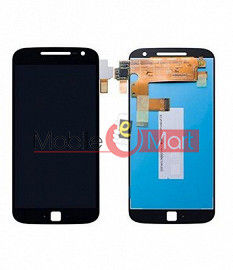 Lcd Display With Touch Screen Digitizer Panel Combo Folder Glass For Motorola Moto G4 Plus (Black)