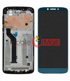 Lcd Display With Touch Screen Digitizer Panel Combo Folder Glass For Motorola Moto E5 Plus (Black)