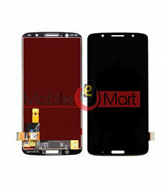 Lcd Display With Touch Screen Digitizer Panel Combo Folder Glass For Moto G6 Plus (Black)