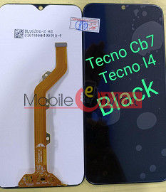 Lcd Display With Touch Screen Digitizer Panel Combo Folder Glass For Tecno Camon i4 (Black)