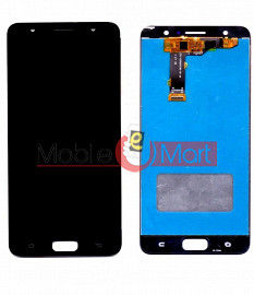 Lcd Display With Touch Screen Digitizer Panel Combo Folder Glass For Tecno i7 (Black)